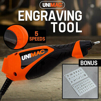 NEW UNIMAC Engraving Tool - Electric Engraver Stencils Precision Hand Held