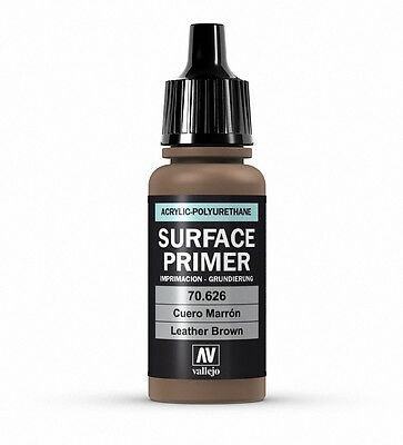 Vallejo Polyurethane Primer Leather Brown 17Ml - 70.626