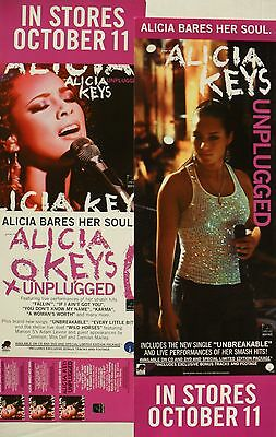 """Alicia Keys """"unplugged & Songs In A Minor"""" 2 U.s. Promo Posters / Banners"""
