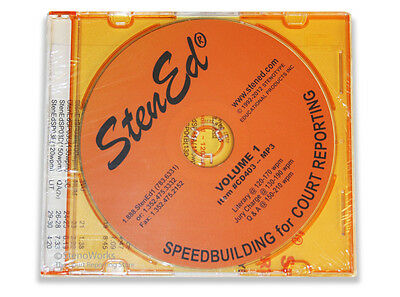 StenEd Speedbuilding for Court Reporting, Volume 1 CD Only