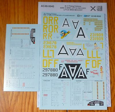 Microscale Decal O #AC48-0045  / 1/48th Scale - B-17 Flying Fortress