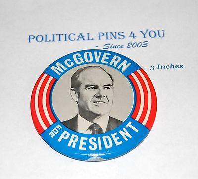 GEORGE MCGOVERN campaign pin pinback button political presidential election 1972