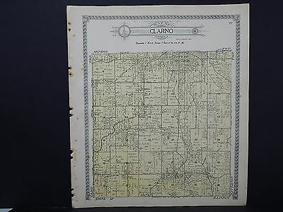 Wisconsin, Green County Map, 1918 Clarno & Monroe Townships, Double Sided #2