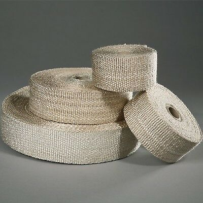 Hooked on Products HP002-50 Heat Resistant Cleaned Exhaust Wrap (Beige)- 50ft