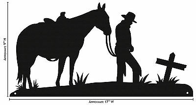 SWEN Products COWBOY AND CROSS Simple Silhouette