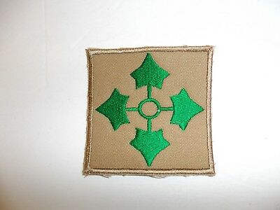 b8534 US Army 1930's-WW2 4th Infantry Division patch khaki Ivy variation PA14
