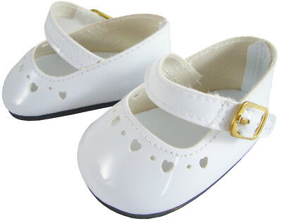 "EASTER White Patent Dress Shoes for 18"" American Girl Doll Clothes"