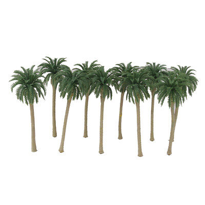 20 Plastic Model Tree Artificial Coconut Palm Trees Rainforest Scenery 1:150 N