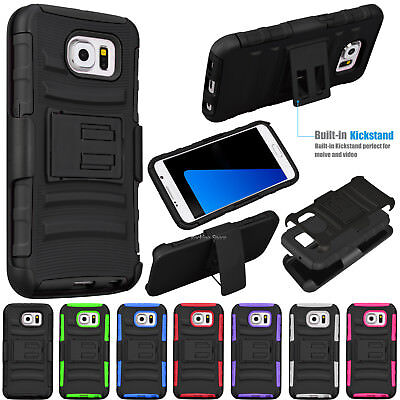 Armor Impact Stand Case Cover w/Belt Clip Holster for Samsung Galaxy S7 edge/S7