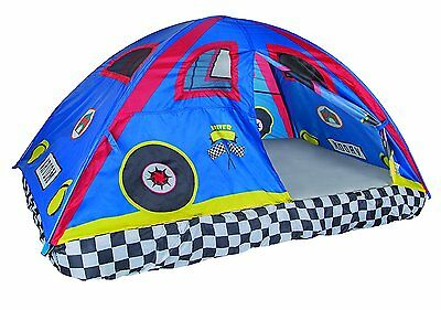 """Pacific Play Tents Rad Racer Bed Tent 77"""" X 54"""" X 42"""" Full Size Bed Tent NEW"""