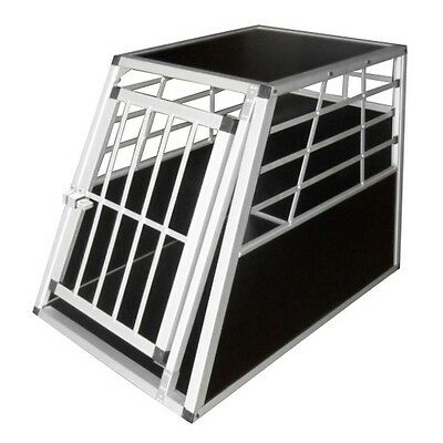New Aluminium Dog Cage Pet Crate Cat Carrier Kennel Transport Travel Collapsible