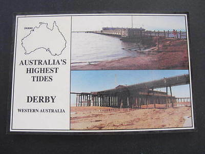 Derby W.A. Australia Highest Tides Postcard