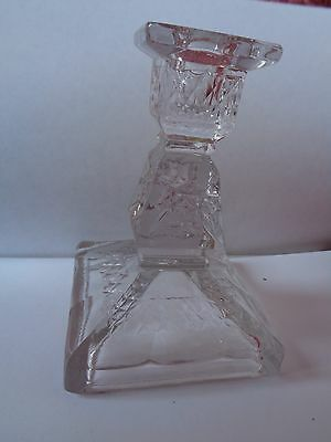 Single Quality Lead Crystal Pressed Geometric Candle Holder Great For Xmas Ap