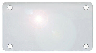 """Motorcycle Clear Thin Plate Shield  4"""" x 7"""" Bikes Protector Cover .020 Gauge"""