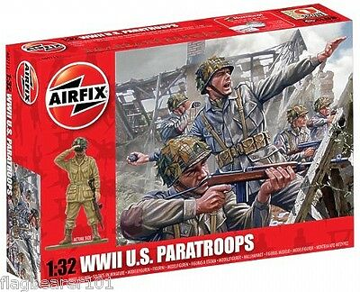 Airfix A02711 Wwii U.s. Paratroops 1:32 Scale X 14 Ww2 American Paratroopers