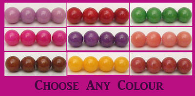 Natural Mashan Jade Beads - 8mm - Choice of 16 Colours (BD014) FREE POSTAGE