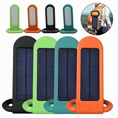 New Portable 12 LED Hiking Camping Solar Lamp Outdoor Sports Torch Power Bank uk