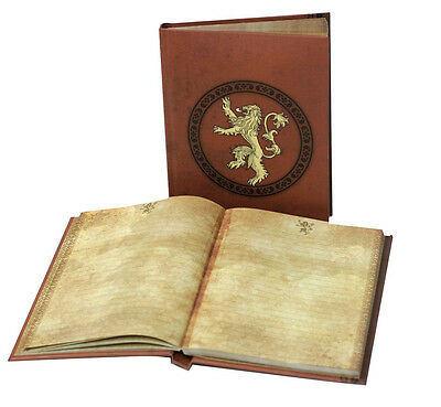 Game of Thrones Notebook with Light Lannister Toys Cancelleria