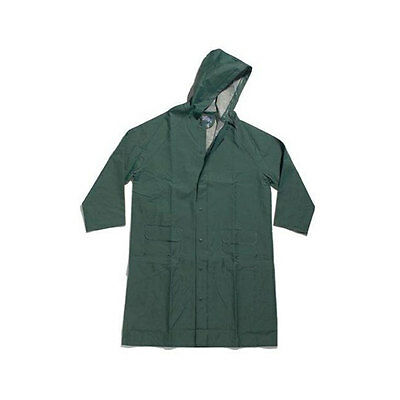 Dutch Harbor Gear HD223 Polyvinyl Forest Green Hooded Rain Jacket, X-Large