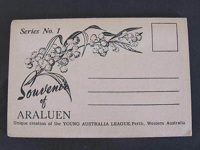 Souvenir of Araluen West Australia Foldout Views Folder Postcard