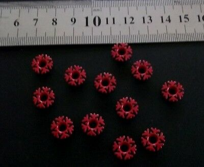 Bright *FANCY SNOWFLAKE EYELETS - RED* x 12 -  FOR SCRAPBOOKING/CARDMAKINGr