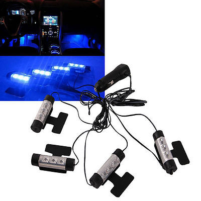 3LED Car Charge Interior Accessories Floor Decorative Atmosphere Lamp Light New