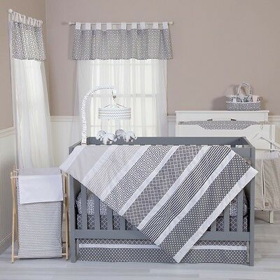 Trend Lab 100494 Ombre Gray 3 Piece Crib Bedding Set NEW
