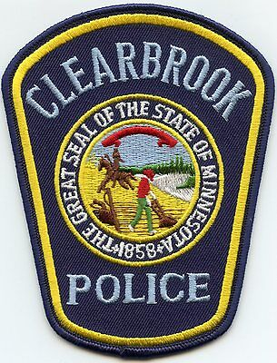 Clearbrook Minnesota Mn Police Patch