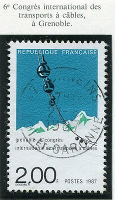 TIMBRE FRANCE OBLITERE N° 2480 TRANSPORTS A CABLES / Photo non contractuelle