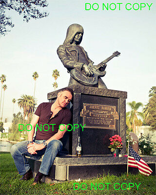 MORRISSEY - 8x10 Photo - AT JOHNNY RAMONE'S GRAVE