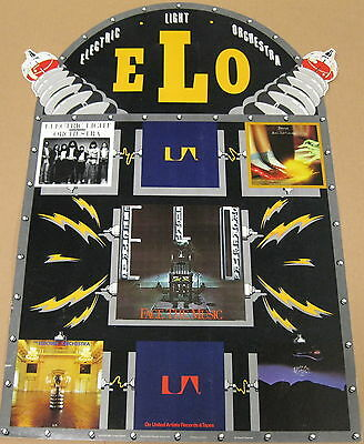 ELO Face The Music 1975 US PROMO COUNTER DISPLAY Electric Light Orchestra LYNNE