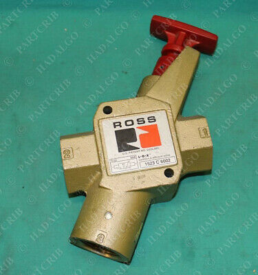 Ross, 1523 C 6002, 1523C6002, Pneumatic Air Lock Out & Exhaust Valve Safety