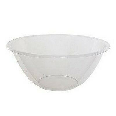 Whitefurze Clear Plastic Mixing Bowl 20cm