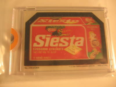 1980 Topps Wacky Packages Proofs Siesta Crackers #258