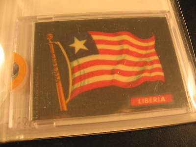 1970 Topps Flags of the World Cloth Sticker Liberia