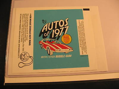 1977 Topps Autos of 1977 Wax Pack Wrapper Proof