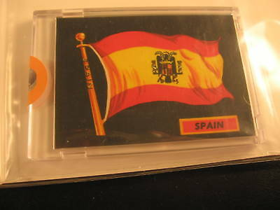 1970 Topps Flags of the World Sticker Card Spain