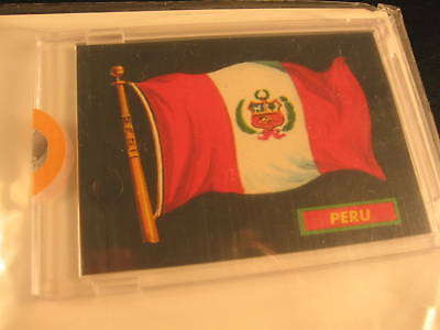 1970 Topps Flags of the World Sticker Card Peru
