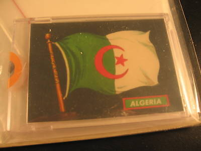 1970 Topps Flags of the World Sticker Card Algeria