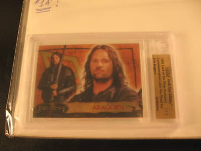 2006 Topps Vault Lord of the Rings Proof #1A BGS 1/1