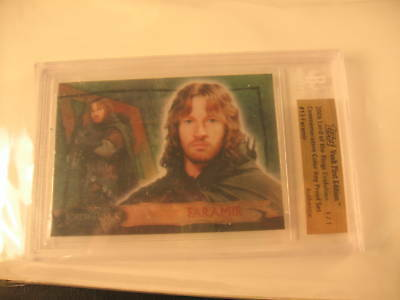 2006 Topps Vault Lord of the Rings Proof #13 BGS 1/1