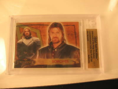 2006 Topps Vault Lord of the Rings Proof #4A BGS 1/1