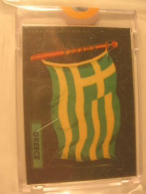 1970 Topps Flags of the World Cloth Sticker Greece