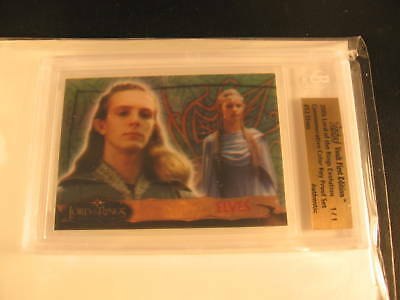 2006 Topps Vault Lord of the Rings Proof #52 BGS 1/1