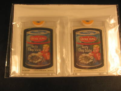 1980 Topps Wacky Packages (2) Proof Set #216 Choke King
