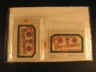 1980 Topps Wacky Packages (2) Proof Set #213 Bum Bums