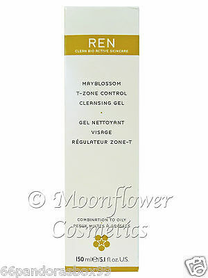 REN Mayblossom T-Zone Control Cleansing Gel Combination to Oily Acne Skin 150ml