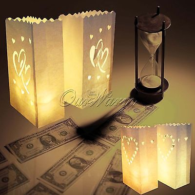 White Paper Bag Lantern Wedding Candle Path Luminara BBQ Party Favour Decoration