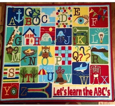 Smithsonian Kids Play & Learn Rug 46in x 52in (ABC's) Educational