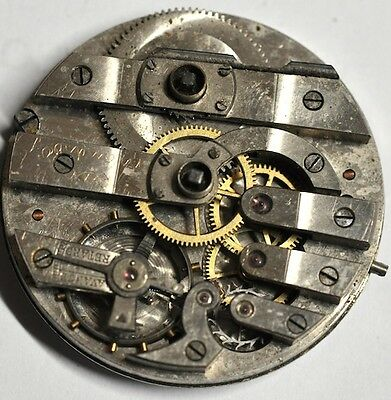 Key Wind Pocket Watch Movement For Parts/repairs #w477